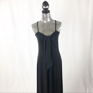 Anne Klein Black Maxi Dress with Front Tie